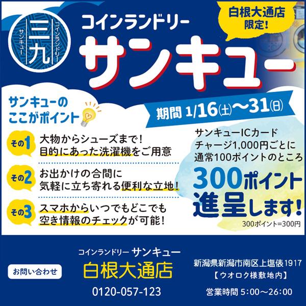 【サンキュー白根大通店限定キャンペーン】のお知らせ